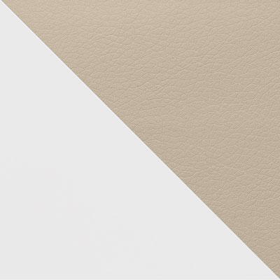 Белый матовый / Бежевый кожзам