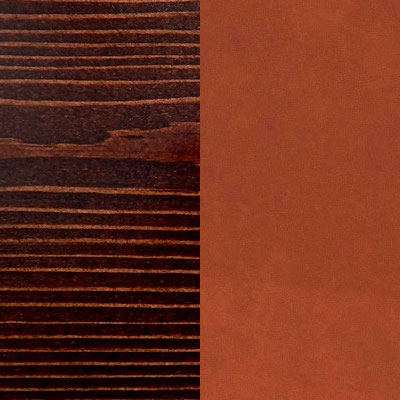 Венге / Оранжевый, экокожа