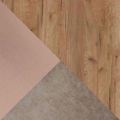 Дуб табачный craft / Мокко / Furor brown grey, велюр