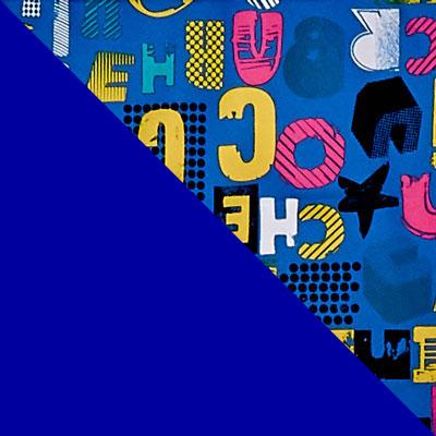 Синий с рисунком