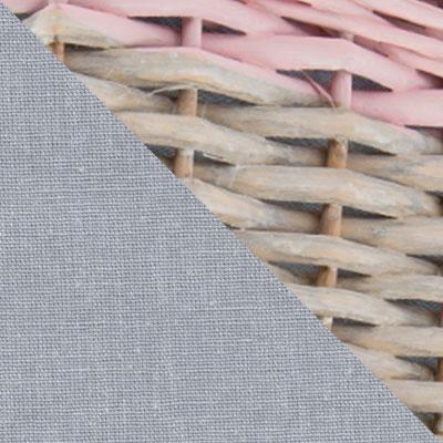 Пудра, ивовая лоза / Серый, ткань