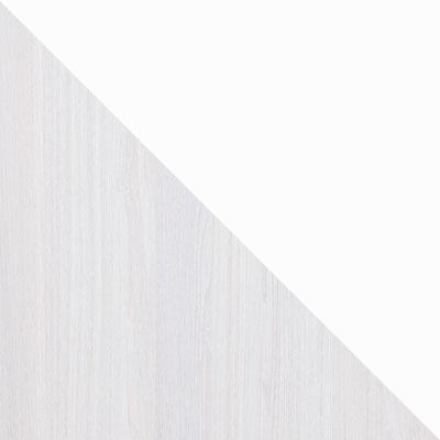 Ясень анкор светлый / Экокожа белая