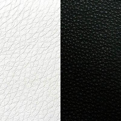 Бело-черная экокожа