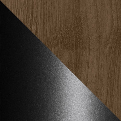 Дуб Кантри / Черный муар, металл
