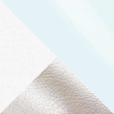Аврора вайт, экокожа / Белый, ЛДСП / Белый, стекло