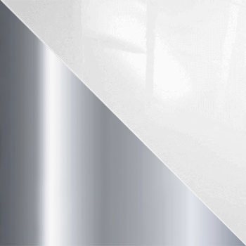 Хром / Белый глянец, стекло