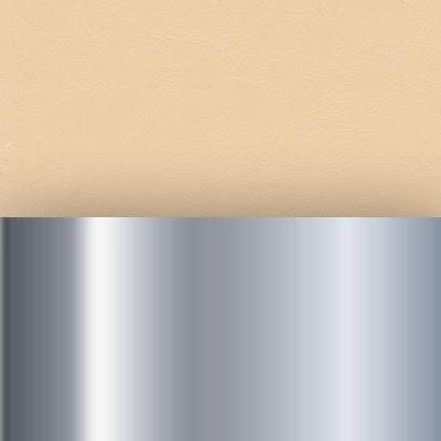 Хром / Иск.кожа кремовая