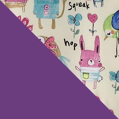 Фиолетовый с рисунком