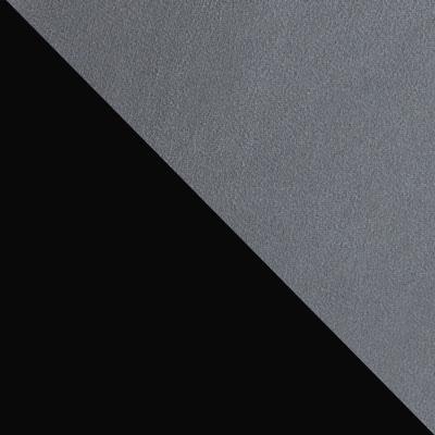 Темно-серый, велюр / Черный, металл