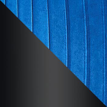HLR-64 Синий, велюр / Черный матовый