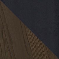 Серебристый матовый / темное дерево