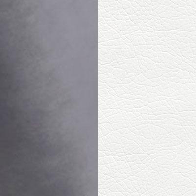 Графит, велюр / Белый, кожзам
