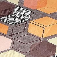 Геометрия коричневый, микровелюр
