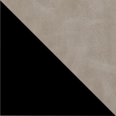 Светло-серый, экокожа / Черный