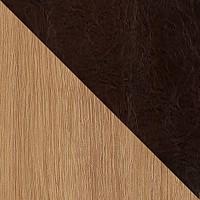 Светлое дерево / Темно-коричневый, экокожа