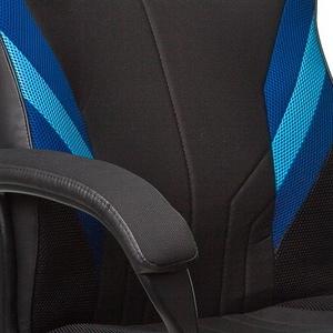 Синий, голубой / Черный иск.кожа, ткань