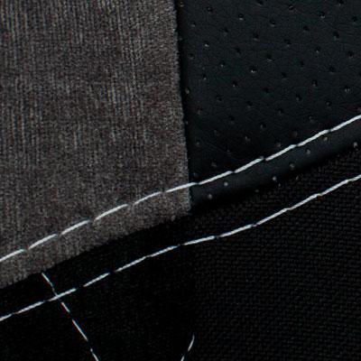 Черный, ткань/экокожа