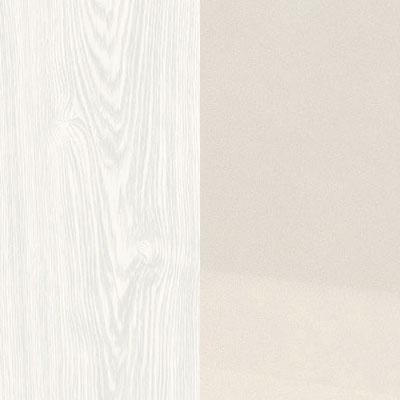Дуб / Белый, экокожа