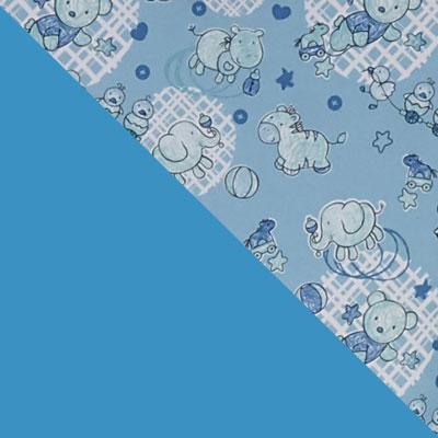 Голубой с рисунком