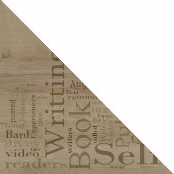 Дуб Ривьера с рисунком / Белый