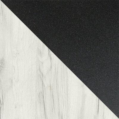 Дуб Белый Крафт / Черный муар