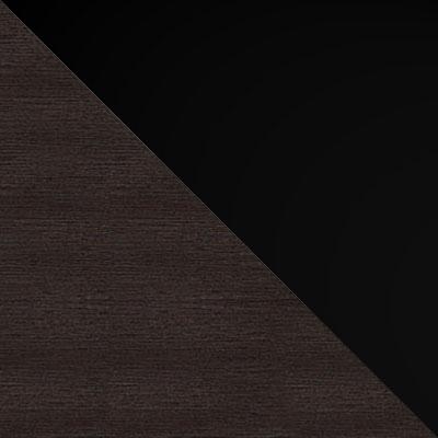 Венге / Стекло черное