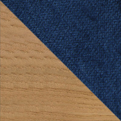 Синий, шенилл / Светлое дерево
