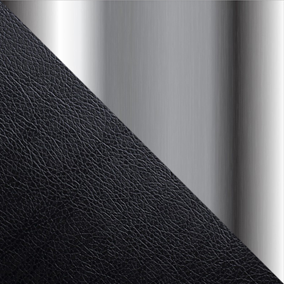 Черный, кожа / Хром, металл