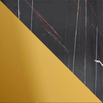 Золото / Камень черный, глянец