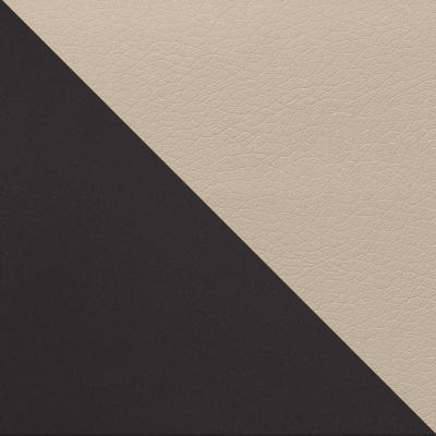 Черный матовый / Бежевый кожзам