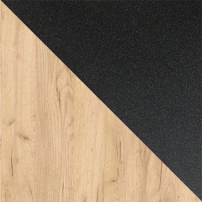 Дуб Золотой Крафт / Черный муар