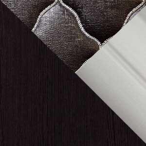 Венге / Экокожа коричневая / Серебро профиль