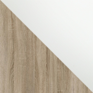 Дуб Сонома / Белый Софт
