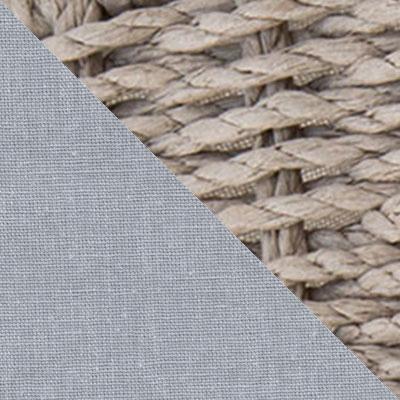 Дерево, бумажная лента / Серый, ткань