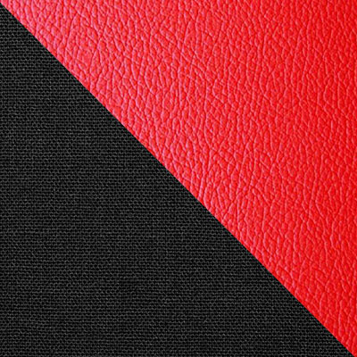Черный, ткань / Красный, экокожа