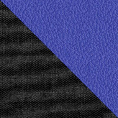 Черный, ткань / Синий, экокожа