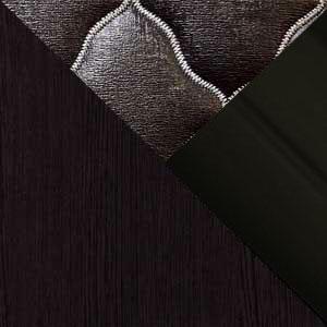 Венге / Экокожа коричневая / Черный профиль