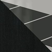 Стекло Белое, Рисунок Черный / ЛДСП Черная