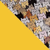 Желтый с рисунком