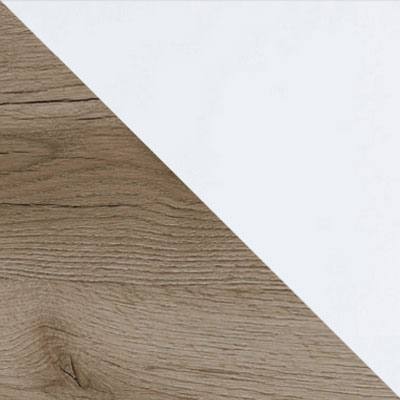 Дуб Каньон / Белый глянец