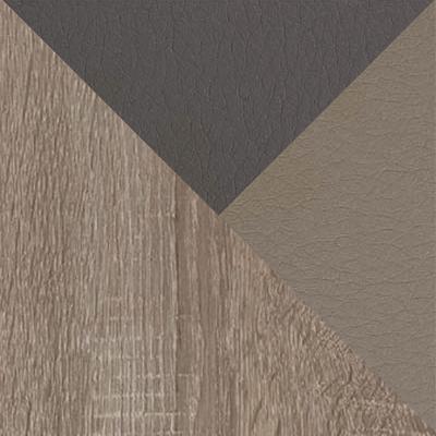 Дуб сонома трюфель / Темно-серый, серо-бежевый, кожзам