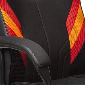 Красный, оранжевый / Черный иск. кожа, ткань