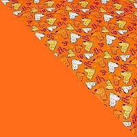 Оранжевый с рисунком