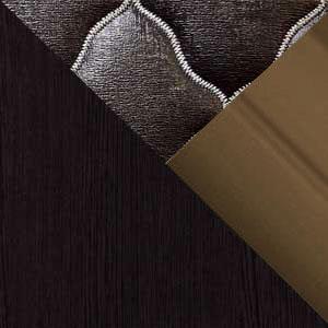 Венге / Экокожа коричневая / Бронза профиль