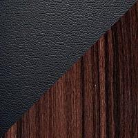 Черная иск. кожа / Березовый шпон «палисандр»