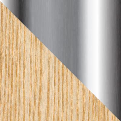 Металл (имитация под дерево) / Хром