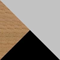 Серый / Черный / Светлое дерево