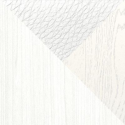 Белый, поры дерева / Ясень ваниль / Белый, кожзам