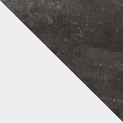 Моод темный / Белый, стекло матовое