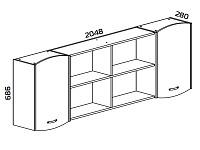 Навесной шкаф 500-116133